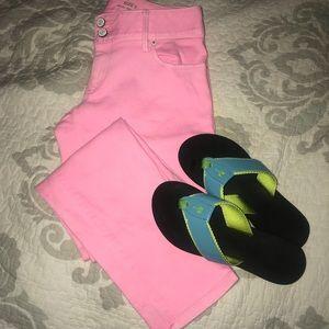 "Lilly Pulitzer""Worth Skinny Mini""Crop Pink Jeans-2"